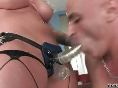Breasted Blonde Fucks Her Horny Lover 1