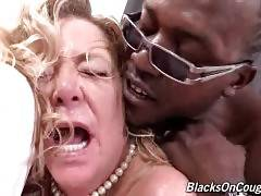 Curvaceous Old Tart Gets Poked By Black Guy 2