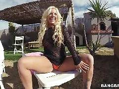 Big Tit Blondie Pounded Outdoor. Blondie Fesser