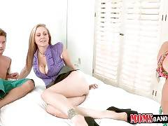 Carter Cruise catches her step mom sucking young guy`s dick.