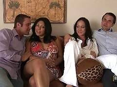 Cassandra Cruz and Kylee King Pass Partners!. First Time Wife Swappers