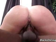 Old White Hooker Enjoys Massive Black Dick 1