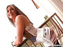 Pretty Blonde Lexi Love Fleshes Her Charms 3