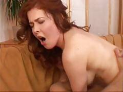 In this scene, you will be watching a beautiful and very busty redhead strip and get busy sucking and fucking our stunt cock. Mae Victorias the kind of chick who gives off a sweet and somewhat innocent appeal, but dont be fooled. Shes a horny MILF. Mae Vi