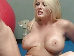 Big boobed blonde Sophie Dee is fond of getting fucked hard.