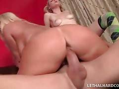 Horny Dude Bangs Mother And Daughter 3