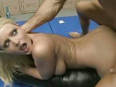 Sophie Dee gives her boyfriend a dose of her sinful blowjob in this scene. This busty beauty crams her sexy lips over with a throbbing wang. She starts bobbing her head up and down over this big cock and got her pretty face sprayed with his creamy cu
