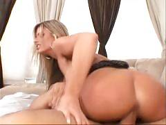 Krystal Summers is a sexy blonde MILF who settles in front of the camera to give us an excellent view of her big tits. Shes joined by our meat puppet and goes right to work in swallowing every inch of his shaft then gets him to slide it in and out o